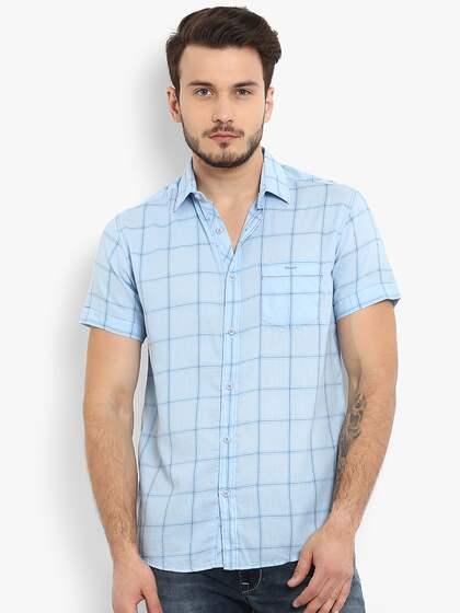 68b5180e56b Short Sleeve Shirts - Buy Short Sleeve Shirts Online in India