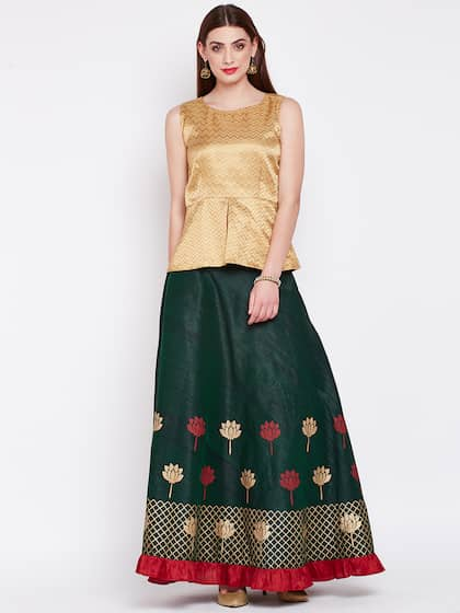 68f0399ba67174 Beige and gold gota patti lace lehenga and blouse set available