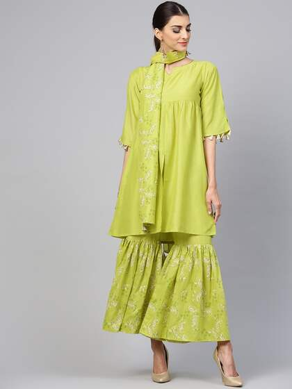 754e3097 Shararas - Buy Designer Sharara Suits Online | Myntra