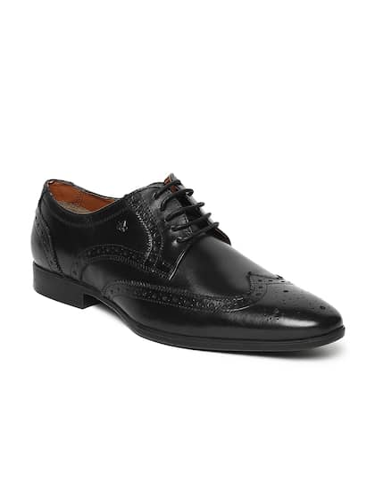 Arrow Mens Black Leather Formal Brogues