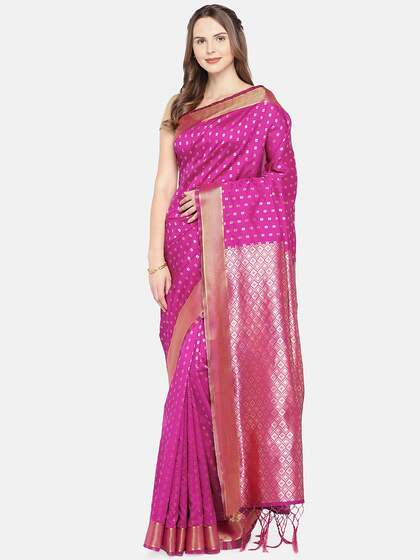 0a017b8947bb49 Nanda Silk Mills. Woven Design Saree