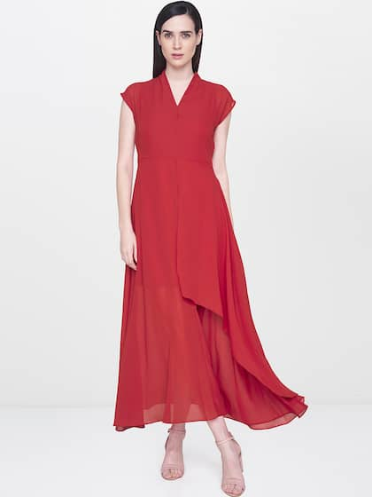 deccabf229 AND. Women Solid Layered Maxi Dress