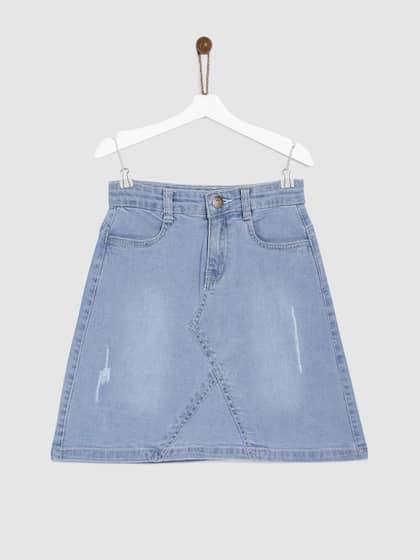 443d47ecc6 Denim Skirts - Buy Denim Skirts for Women Online   Myntra