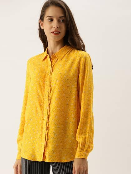 3a6bbb0beca Women Yellow Shirts - Buy Women Yellow Shirts online in India