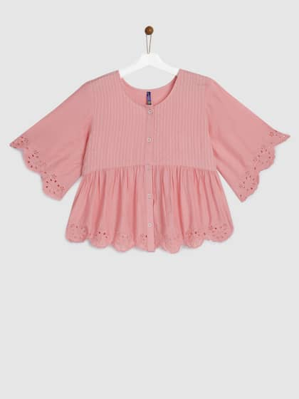 5981afcdc8 Girls Tops - Buy Stylish Top for Girls Online in India | Myntra