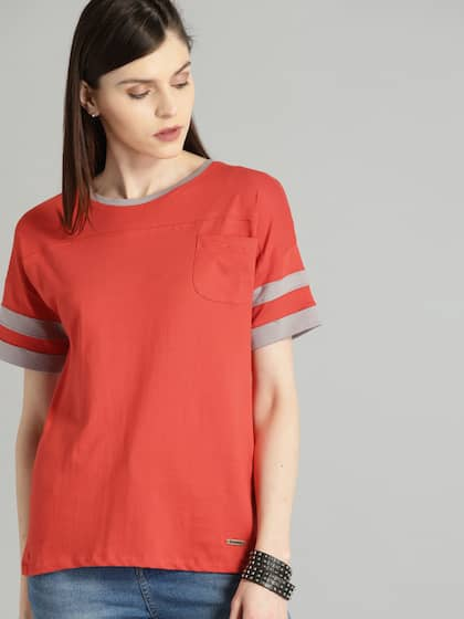b6a028af T-Shirts for Women - Buy Stylish Women's T-Shirts Online | Myntra
