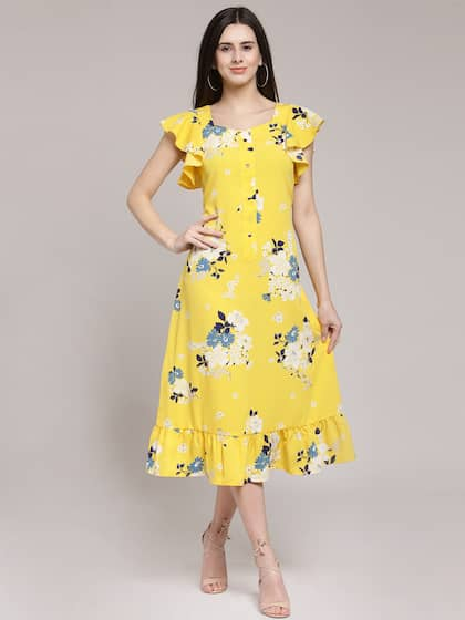 cde7614c2f Midi Dresses - Buy Midi Dress for Women & Girl Online | Myntra