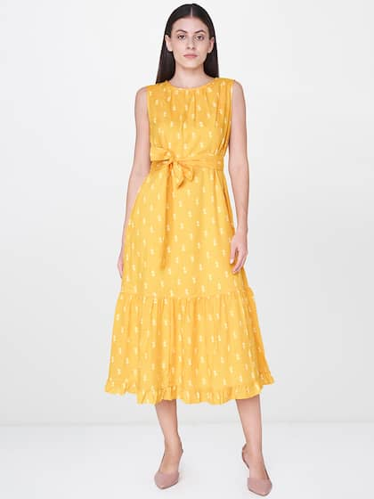 f8451f48b Midi Dresses - Buy Midi Dress for Women & Girl Online | Myntra