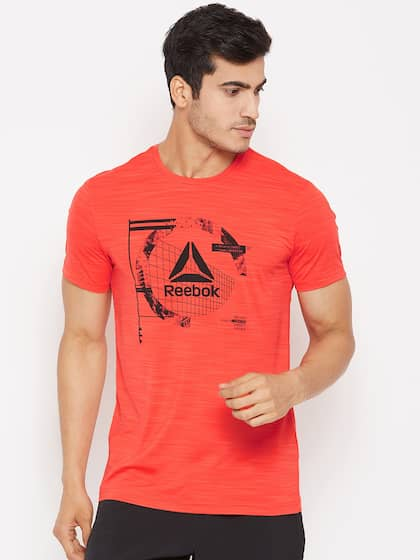 7e0821949 Reebok Men Coral Red Workout Activchill Graphic Print Training T-shirt
