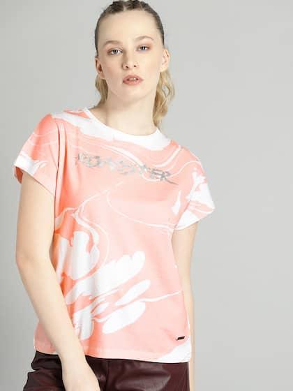6dc958b351 T-Shirts for Women - Buy Stylish Women's T-Shirts Online | Myntra
