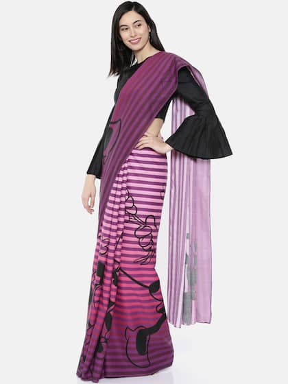 1c045ee527e208 Striped Sarees Online - Buy Striped Design Saree in India - Myntra