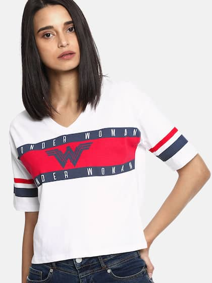 98b5296c0d T-Shirts for Women - Buy Stylish Women's T-Shirts Online | Myntra