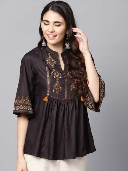 2e5ff08c85 Ethnic Tops - Buy Ethnic Wear for Women Online in India