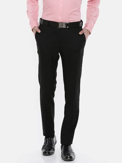 5be496ff12 Raymond. Men Slim Fit Formal Trousers