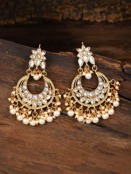 ee476b2fe59e6 ChandBali Earrings - Buy Chandbali Earring Online | Myntra