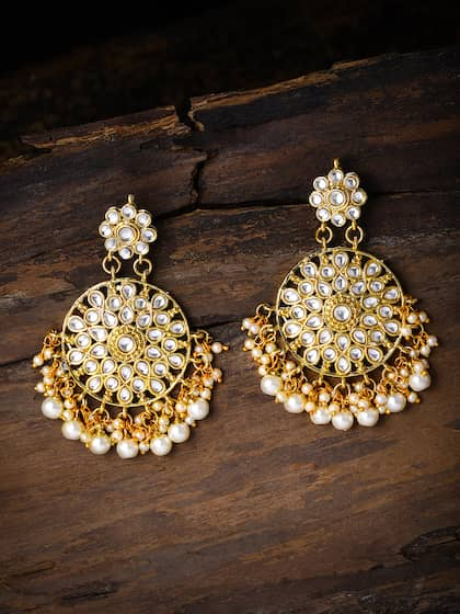 f0b39bf16 Kundan Earrings - Buy Antique Kundan Earrings in India | Myntra