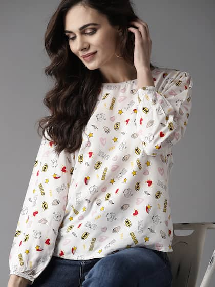 a001ddb82 Women White Top - Buy Women White Top online in India