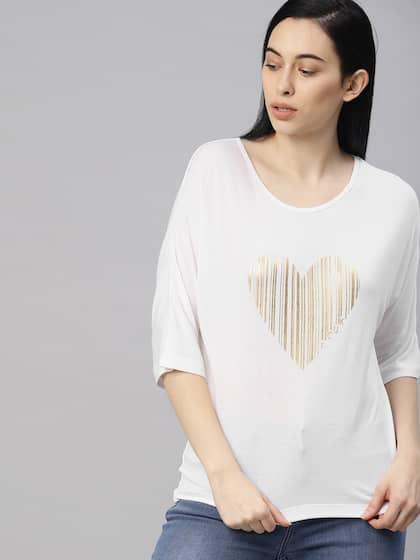 261b35c44532 T-Shirts for Women - Buy Stylish Women's T-Shirts Online   Myntra
