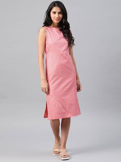 eacb9592b9 NUSH. Women Striped Fit and Flare Dress