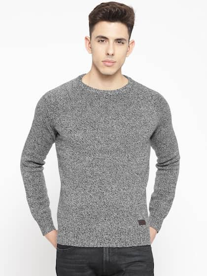 af8f699f0e9 Timberland Men Charcoal Solid Sweater