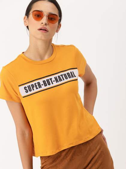 17aac7eec T-Shirts for Women - Buy Stylish Women's T-Shirts Online   Myntra