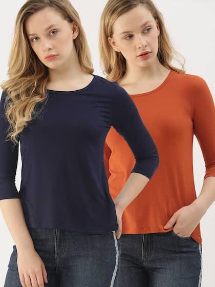 e3ebfd2e5ac1 T-Shirts for Women - Buy Stylish Women's T-Shirts Online | Myntra