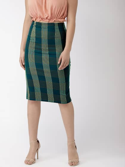 Attention Womens Size 2 Skirt Solid Blue Straight Pencil Cut Lined Cotton Blend Clothing, Shoes & Accessories
