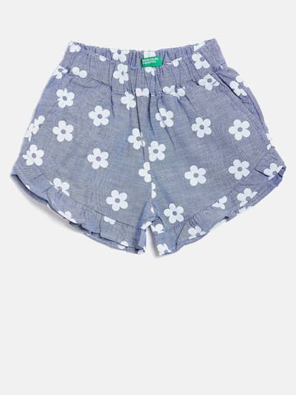 various colors 37d55 0656b United Colors of Benetton. Girls Floral Chambray Shorts