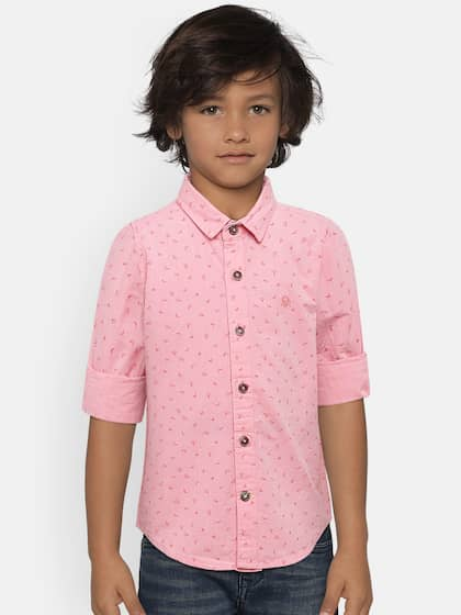 12c130fd291 United Colors of Benetton. Boys Printed Casual Shirt