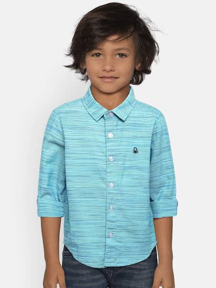 fe7129481 United Colors of Benetton. Boys Self-Design Casual Shirt