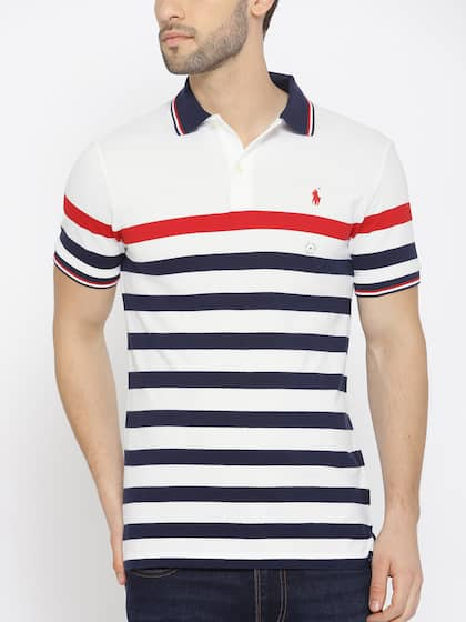 0a75d89996e Polo Ralph Lauren. Striped Polo Collar T-shirt