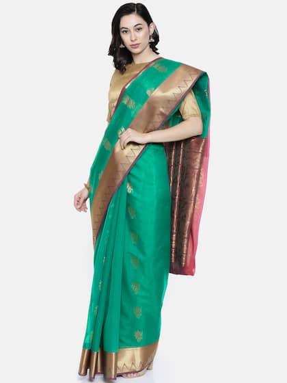 845518b6a7312a Cotton Sarees - Buy Cotton Sarees Online in India | Myntra