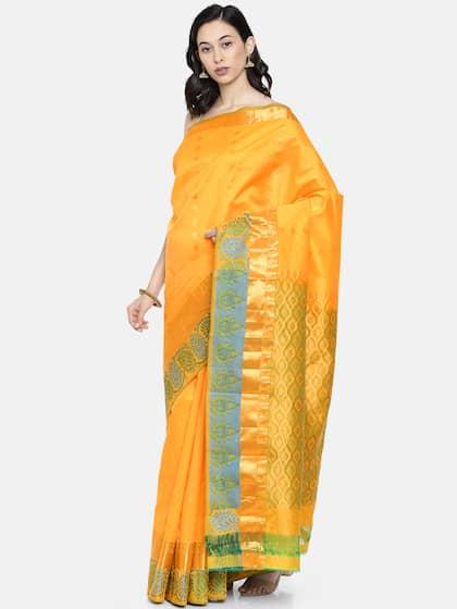 df5697546725d Yellow Saree - Buy Yellow Colour Saree Online