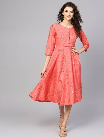 30d524b61cea Midi Dresses - Buy Midi Dress for Women & Girl Online | Myntra