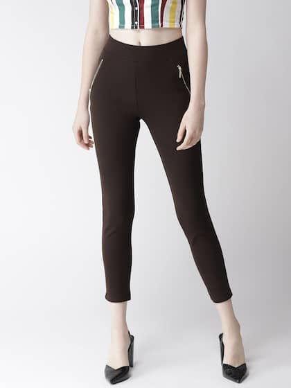 29d7480e1a19ae Brown Jeggings - Buy Brown Jeggings online in India