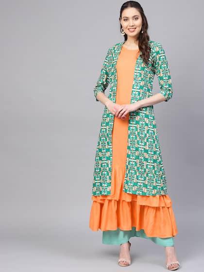 6363194fa Layered Kurtas - Buy Layered Kurtas online in India