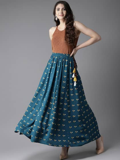0338dc05501 Ethnic Long Skirts - Buy Ethnic Long Skirts Online | Myntra