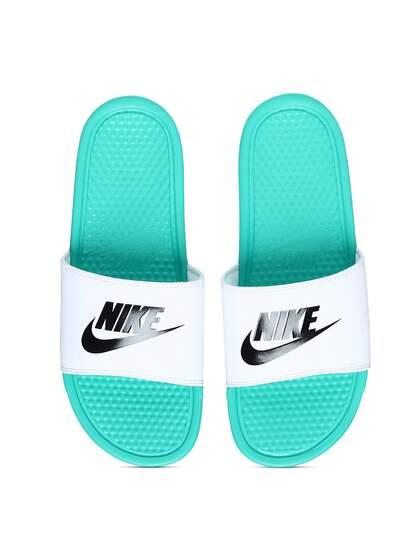 save off ef6c3 f2858 Nike Men White Solid Sliders