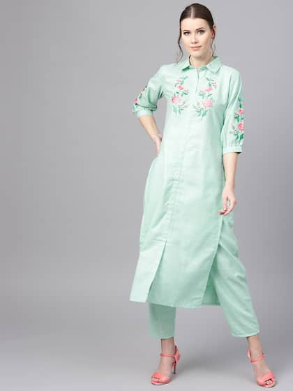 757cee9b2 Libas. Women Embroidered Kurta with Trousers