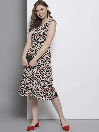 30d524b61cea Midi Dresses - Buy Midi Dress for Women & Girl Online   Myntra