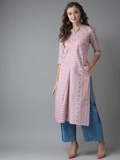 f573da6dfde8c3 Cotton Kurtas - Buy Cotton Kurta Online in India | Myntra