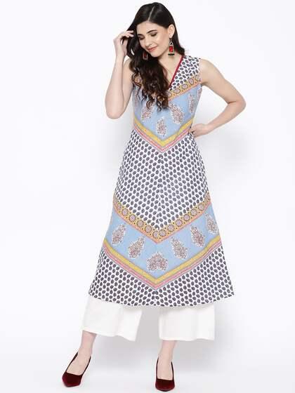 a0bf388d46 A Line Kurtas - Buy A Line Kurtas online in India