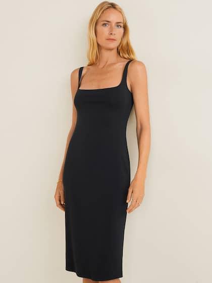 d14db5ef361 MANGO. Women Solid Sheath Dress
