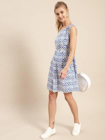 b1043f44e1 Knee Length Dress - Buy Knee Length Dresses Online in India