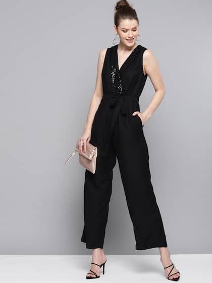6492053965af Marie Claire Black Solid Basic Jumpsuit