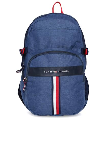308e89704f37c Tommy Hilfiger Unisex Navy Blue Solid Laptop Backpack