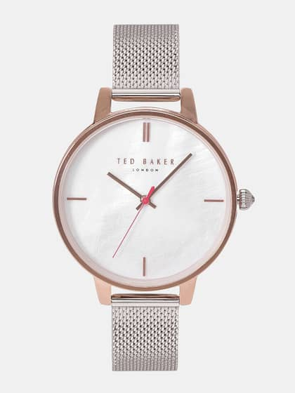 e76500709 Ted Baker Women Off-White Mother of Pearl Analogue Watch TE50272008