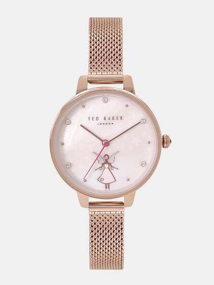 7f86ccd84 Ted Baker Women Off-White Mother of Pearl Analogue Watch TE50070017
