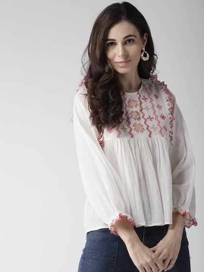 4436736db Women White Top - Buy Women White Top online in India