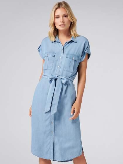 6021f38d1 Denim Dresses - Buy Denim Dresses Online in India